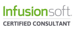 a rectangular shape with a text of ``Infusionsoft CERTIFIED CONSULTANT``