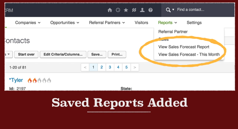 scale up marketing infusionsoft saved reports