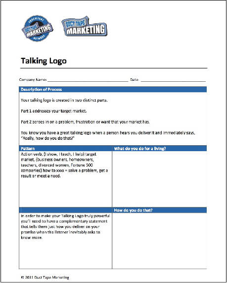 duct tape marketing to grow predictable revenue using a planner worksheet