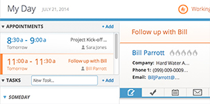 screenshot image of Marketing Automation Infusionsoft features indicating sales automation