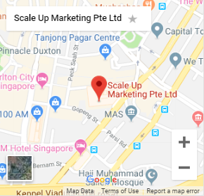 Screenshot Image of Google Map locating the address of ScaleUp Marketing